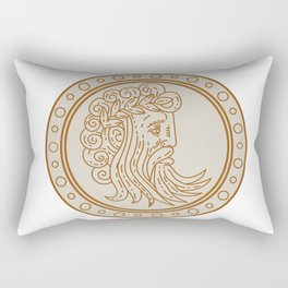 Jupiter God of Light and Sky Mono Line Rectangular Pillow