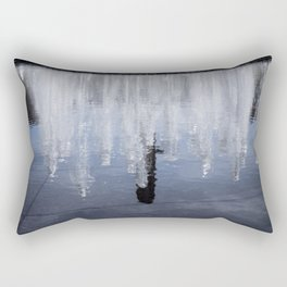 Tower Reflection Rectangular Pillow