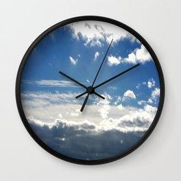 Windy Day Sky Wall Clock