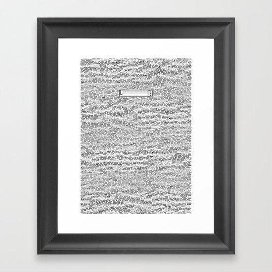 Securitee Framed Art Print