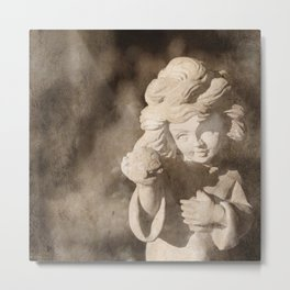 Angel Sculpture Metal Print