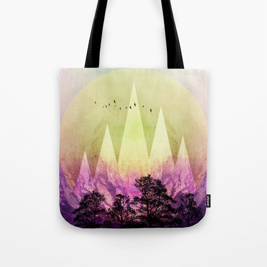 TREES under MAGIC MOUNTAINS III Tote Bag