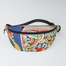 Tibetan Buddhist Monastery Architectural Details Fanny Pack