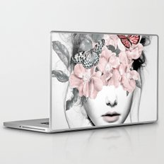WOMAN WITH FLOWERS 10 Laptop & iPad Skin