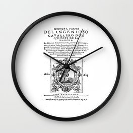 Don Quixote design: Miguel de Cervantes - Fine Art Gifts Wall Clock