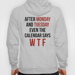 After Monday and Tuesday Even The Calendar Says WTF Hoody