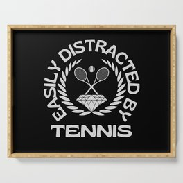 Easily Distracted By Tennis Serving Tray