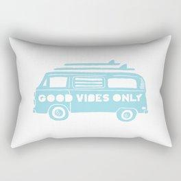 Good Vibes Only retro surfing Camper Van Rectangular Pillow