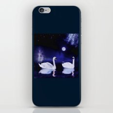 Swan lake at midnight iPhone & iPod Skin