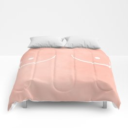 peach boobs Comforters