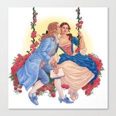 la belle et la bête Canvas Print