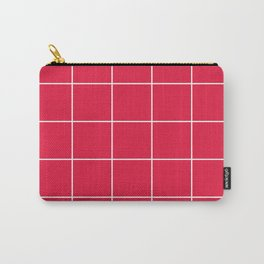 White Grid - Red BG Carry-All Pouch