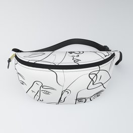 Black an White People Fanny Pack