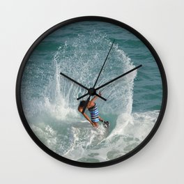 Skim boarding Wall Clock