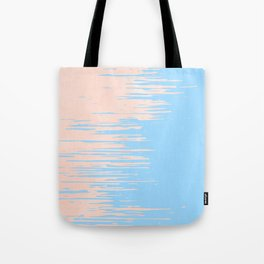 Carefree - Sweet Peach Coral Pink on Blue Raspberry Tote Bag