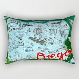 Map of Oregon Rectangular Pillow