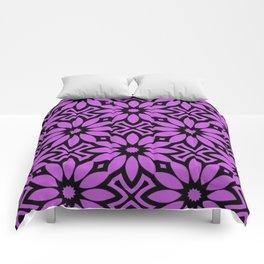 Purple/Black Flower Pattern Comforters