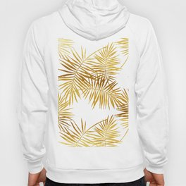 Tropical Palm Fronds in Gold Hoody