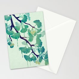 O Ginkgo (in Green) Stationery Cards