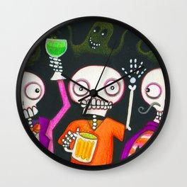 Halloween Happy Hour Wall Clock