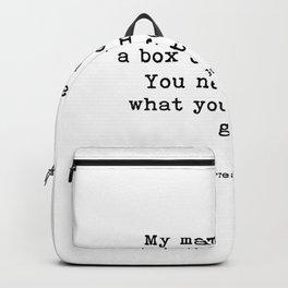 My mama always said Backpack