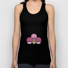 Cute Monster With Pink And Purple Frosted Cupcakes Unisex Tank Top
