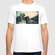 Kyoto temple entrance White Mens Fitted Tee MEDIUM