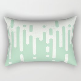 Marble and Geometric Diamond Drips, in Mint Rectangular Pillow