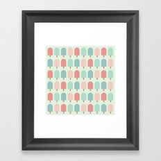 POPSICLES - BLUE Framed Art Print