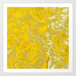 Golden/Yellow Fancy Pattern #decor #society6 #buyart Art Print