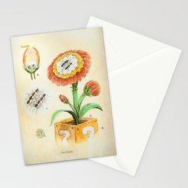 Fire Flower Botanical Illustration Stationery Cards