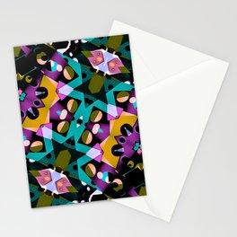 Digital Futuristic Geometric Pattern Stationery Cards