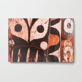 Totem Detail 1 Metal Print