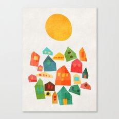 Looking at the same sun Canvas Print