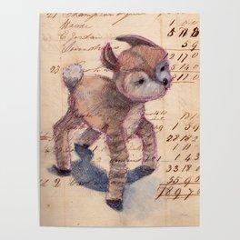 Vintage Chenille Deer Poster