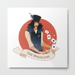 Tarot Card. The Magician Metal Print