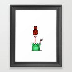 Have a cupcake Framed Art Print