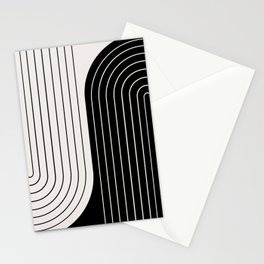 Two Tone Line Curvature VIII  Stationery Cards