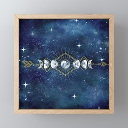 Moon Cycle Arrow Framed Mini Art Print