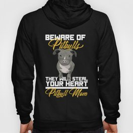 Cute Beware Of Pitbull Dog Lover Stafford Gift Hoody
