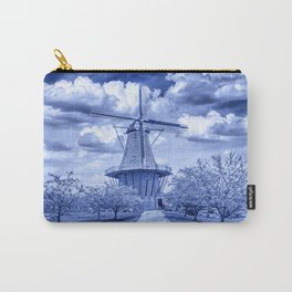 Delft Blue Dutch Windmill Carry-All Pouch