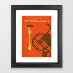 No536 My Dirty Rotten Scoundrels minimal movie poster Framed Art Print