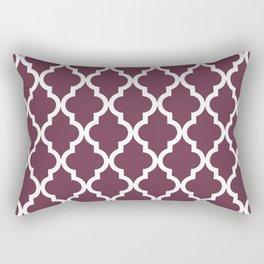 Moroccan Quatrefoil Pattern: Burgundy Rectangular Pillow