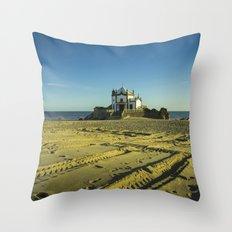 Beach Chapel  Throw Pillow