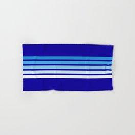 Retro Stripes on Blue Hand & Bath Towel