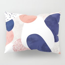 Terrazzo galaxy pink blue white Pillow Sham