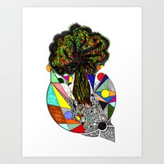 Bursting Out Of Brokenness Art Print