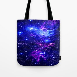 Fox Fur Nebula Galaxy blue purple Tote Bag