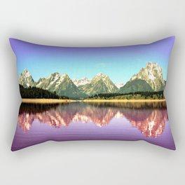 Grand Tetons 🌄 Purple Reflection Rectangular Pillow