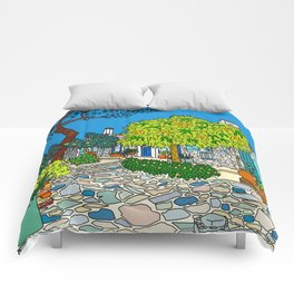 Colorful Collioure, France Comforters